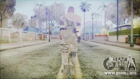 MGSV Phantom Pain Snake Scarf Woodland para GTA San Andreas tercera pantalla