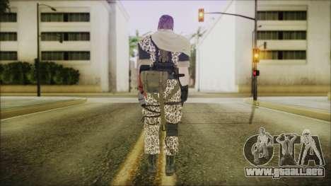 MGSV Phantom Pain Snake Scarf Animals para GTA San Andreas tercera pantalla