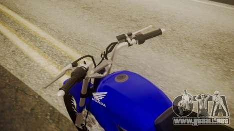Honda CB1 para GTA San Andreas vista hacia atrás