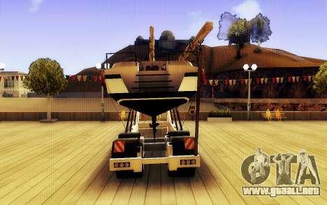 GTA V Gran Remolque del Barco para GTA San Andreas vista posterior izquierda