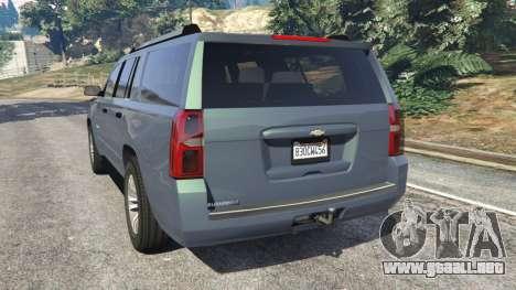 GTA 5 Chevrolet Suburban 2015 [unlocked] vista lateral izquierda trasera