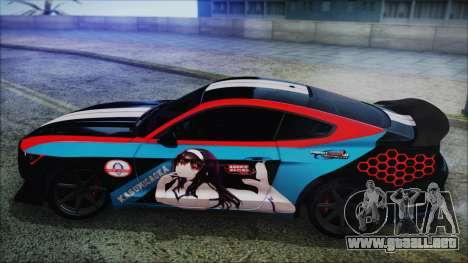 Ford Mustang Shelby GT350R 2016 Kasumigaoka para la visión correcta GTA San Andreas