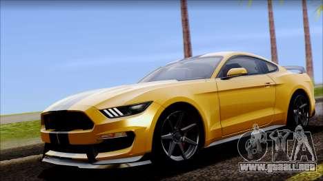 Ford Mustang Shelby GT350R 2016 para GTA San Andreas vista hacia atrás