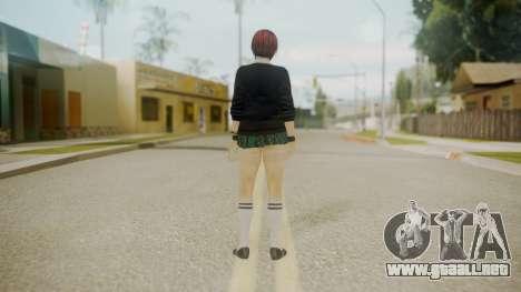 DoA School Grl para GTA San Andreas tercera pantalla