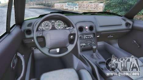 GTA 5 Mazda Miata MX-5 vista lateral trasera derecha