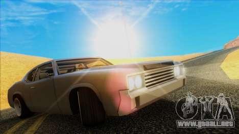 Sabre Race Edition para GTA San Andreas vista posterior izquierda