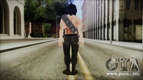 Rambo Skin para GTA San Andreas tercera pantalla