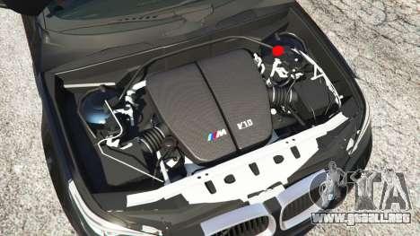 GTA 5 BMW M5 (E60) v1.1 vista lateral trasera derecha