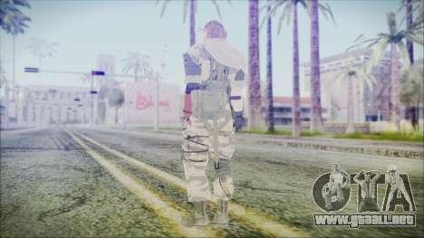 MGSV Phantom Pain Snake Scarf Tiger para GTA San Andreas tercera pantalla