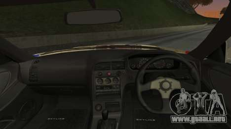Nissan Skyline R33 Kantai Collection Kongou para GTA San Andreas vista posterior izquierda