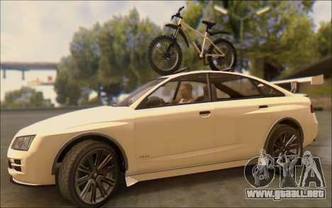 Obey Tailgater Special Tuning para visión interna GTA San Andreas