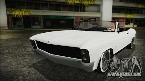 GTA 5 Albany Buccaneer Custom para visión interna GTA San Andreas