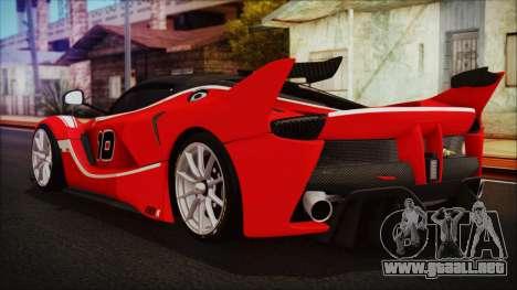 Ferrari FXX K 2016 v1.1 [HQ] para GTA San Andreas left