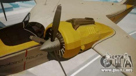 Grumman G-21 Goose WhiteYellow para la visión correcta GTA San Andreas