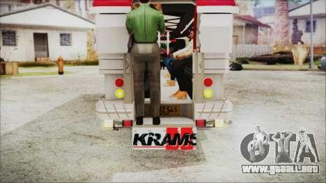 Hataw Motor Works Jeepney para GTA San Andreas vista hacia atrás
