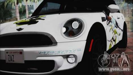 Mini Cooper Clubman 2011 Itasha para visión interna GTA San Andreas