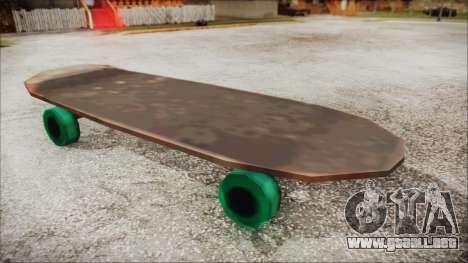 Giant Skateboard para GTA San Andreas vista posterior izquierda