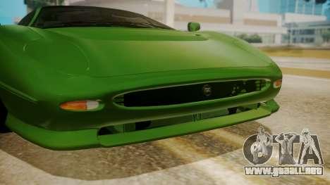 Jaguar XJ220 1992 FIV АПП para GTA San Andreas vista hacia atrás
