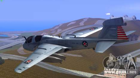 Northrop Grumman EA-6B Prowler VAQ-129 para GTA San Andreas left