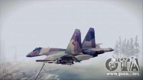 Sukhoi SU-35S East German Air Force para GTA San Andreas left