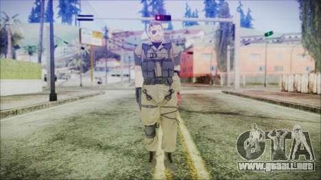 MGSV Phantom Pain Snake Normal Olive Drab para GTA San Andreas segunda pantalla
