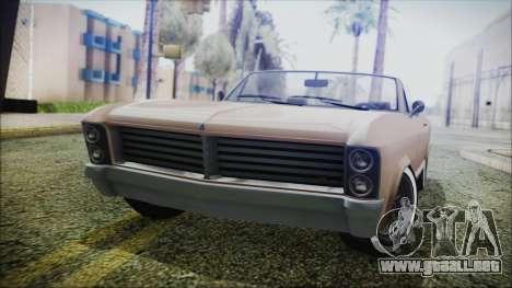 GTA 5 Albany Buccaneer Bobble Version IVF para GTA San Andreas