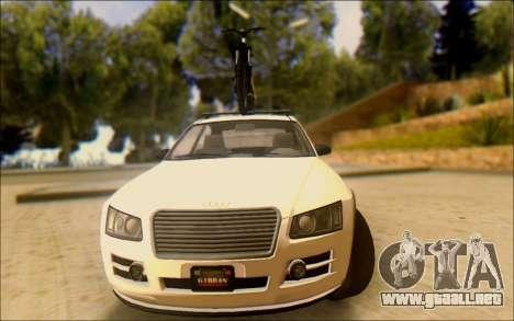 Obey Tailgater Special Tuning para GTA San Andreas vista hacia atrás