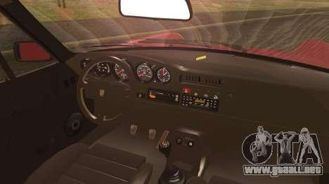 Porsche 911 Turbo 3.3 Coupe (930) 1986 para GTA San Andreas vista posterior izquierda