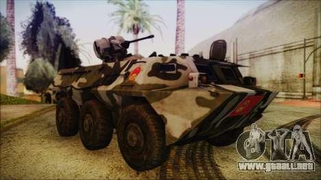 Norinco Type 92 from Mercenaries 2 para la visión correcta GTA San Andreas