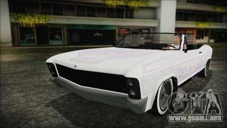 GTA 5 Albany Buccaneer Custom para GTA San Andreas vista hacia atrás