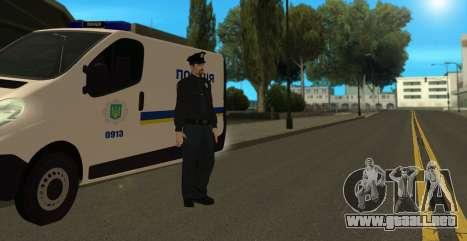 La Policía Nacional De Ucrania para GTA San Andreas sucesivamente de pantalla