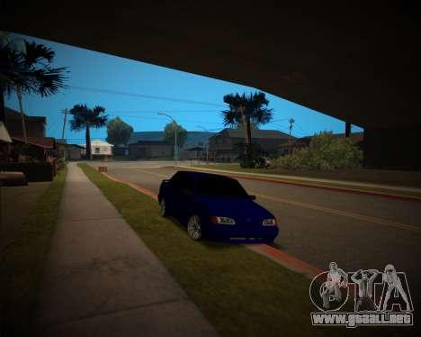 VAZ-2115 para GTA San Andreas vista hacia atrás