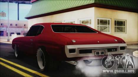 Chevrolet Chevelle Drag Car para GTA San Andreas left