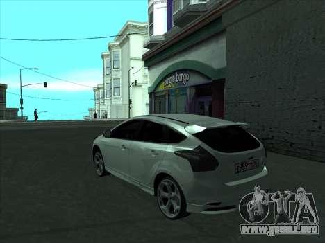 Ford Focus ST barbadas para GTA San Andreas vista posterior izquierda
