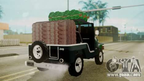 Jeep Willys Cafetero para GTA San Andreas left