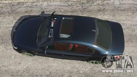 GTA 5 BMW M5 (E60) v1.1 vista trasera