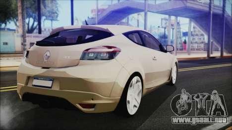 Renault Megane RS para GTA San Andreas left