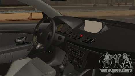 Renault Megane RS para la visión correcta GTA San Andreas