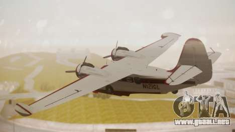Grumman G-21 Goose N121GL para GTA San Andreas left