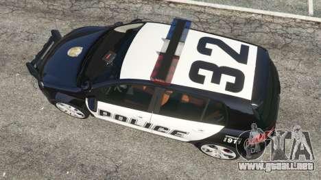 GTA 5 Volkswagen Golf Mk6 Police vista trasera