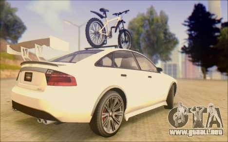 Obey Tailgater Special Tuning para GTA San Andreas vista posterior izquierda