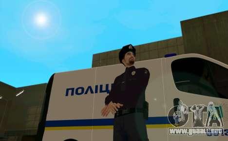 La Policía Nacional De Ucrania para GTA San Andreas segunda pantalla