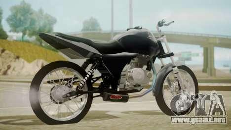 Honda Titan CG150 Stunt para GTA San Andreas left