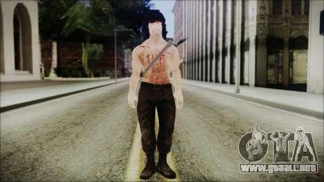 Rambo Skin para GTA San Andreas segunda pantalla