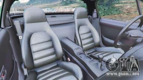 GTA 5 Mazda Miata MX-5 vista lateral derecha