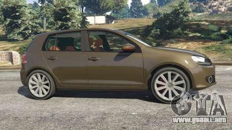 GTA 5 Volkswagen Golf Mk6 vista lateral izquierda
