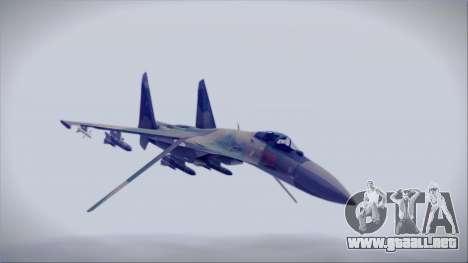 Sukhoi SU-35S East German Air Force para la visión correcta GTA San Andreas