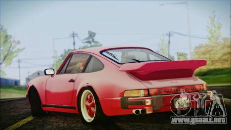 Porsche 911 Turbo 3.3 Coupe (930) 1986 para GTA San Andreas left