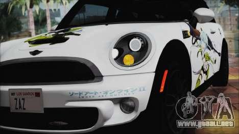 Mini Cooper Clubman 2011 Itasha para GTA San Andreas vista hacia atrás