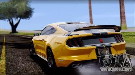 Ford Mustang Shelby GT350R 2016 para la visión correcta GTA San Andreas